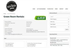 Green Room Rentals On Data Book